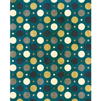Turquoise & Gold Grunge Polka Dot Printed Backdrop
