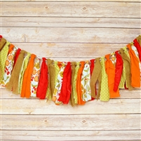 Forest Flowers Fabric Garland