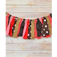 Hot Cocoa Kisses Fabric Garland
