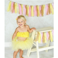 Pink Lemonade Fabric Garland