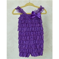 Dark Purple Lace Petti Romper