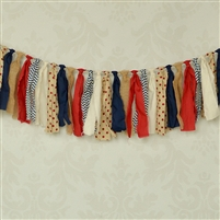 Vintage Baseball Fabric Garland