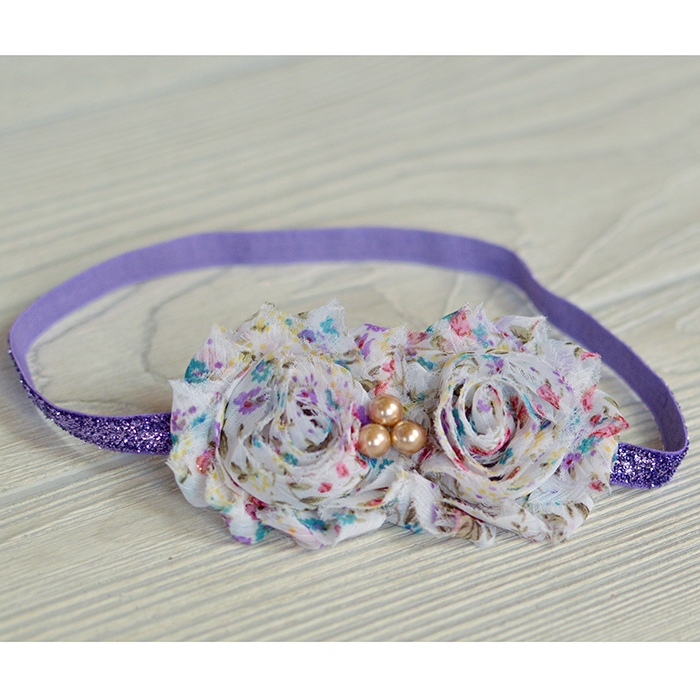 Pink Purple Teal Flower Headband Backdrop Express