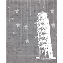 Pisa at Night Printed Backdrop