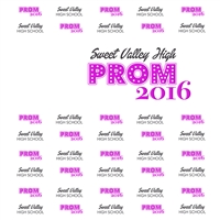 Custom Prom Printed Backdrop