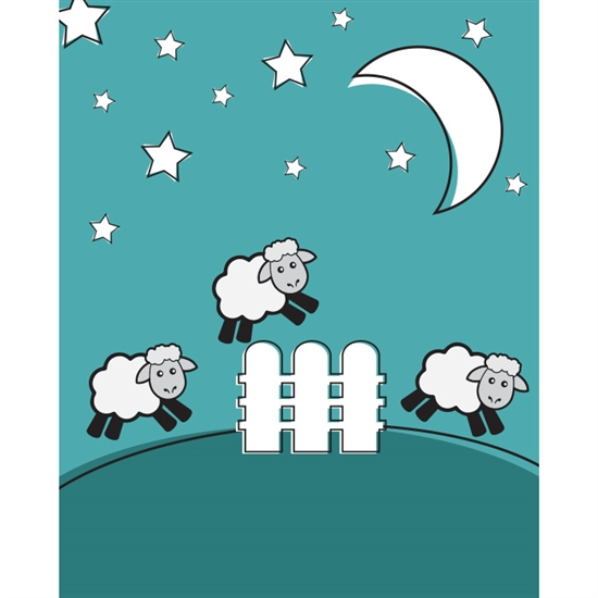 Counting Sheep Poseable Printed Backdrop Backdrop Express