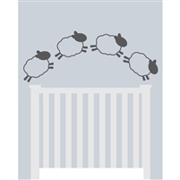 Sheep & Crib Poseable Printed Backdrop