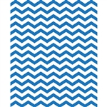 Blue & White Chevron Printed Backdrop