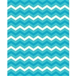 Ocean Blues Chevron Printed Backdrop