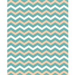 Teal & Tan Chevron Printed Backdrop