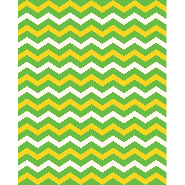 bright green  u0026 yellow chevron printed backdrop
