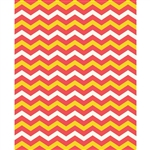 Strawberry Lemonade Pink & Yellow Chevron Printed Backdrop