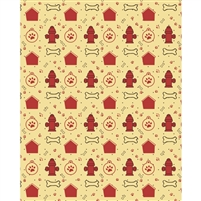 Dog House Patterned Printed Backdrop
