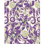 Purple & Green Floral Printed Backdrop
