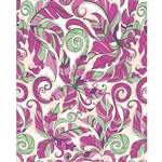 Pink & Green Floral Printed Backdrop