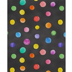 Chalkboard Polka Dots Printed Backdrop