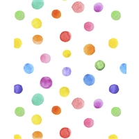 Watercolor Polka Dots Printed Backdrop