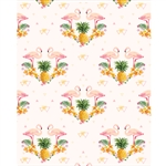 Tropical Flamingos Printed Backdrop