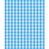 Blue Plaid Printed Backdrop