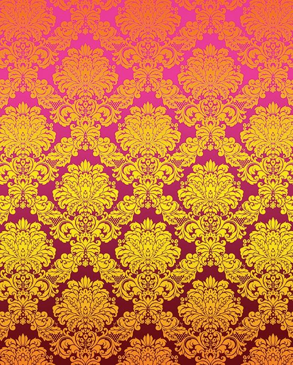 Pink Amp Gold Damask Printed Backdrop Backdrop Express