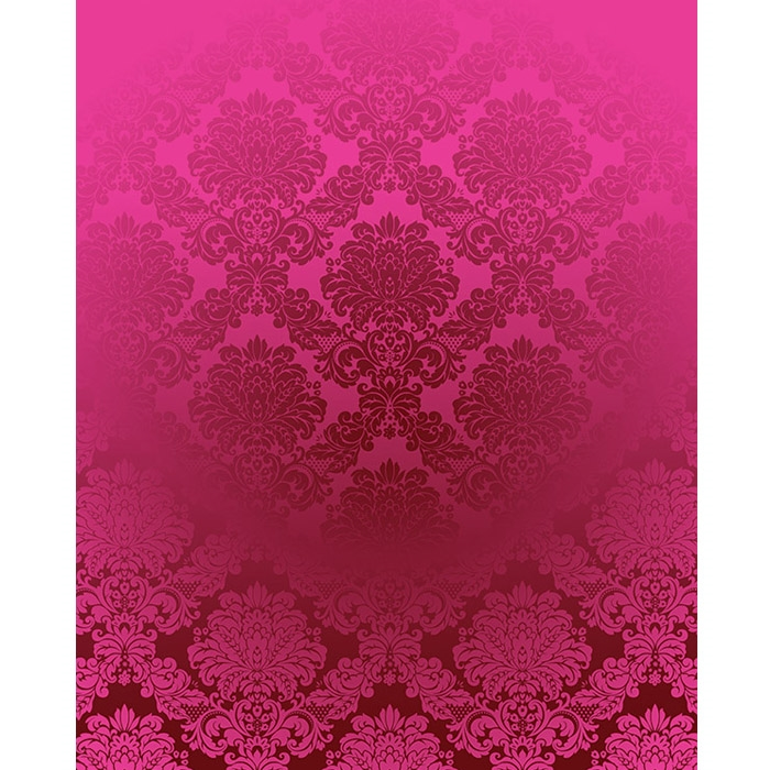 Hot Pink Damask Printed Backdrop Backdrop Express