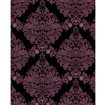 Black & Pink Damask Printed Backdrop