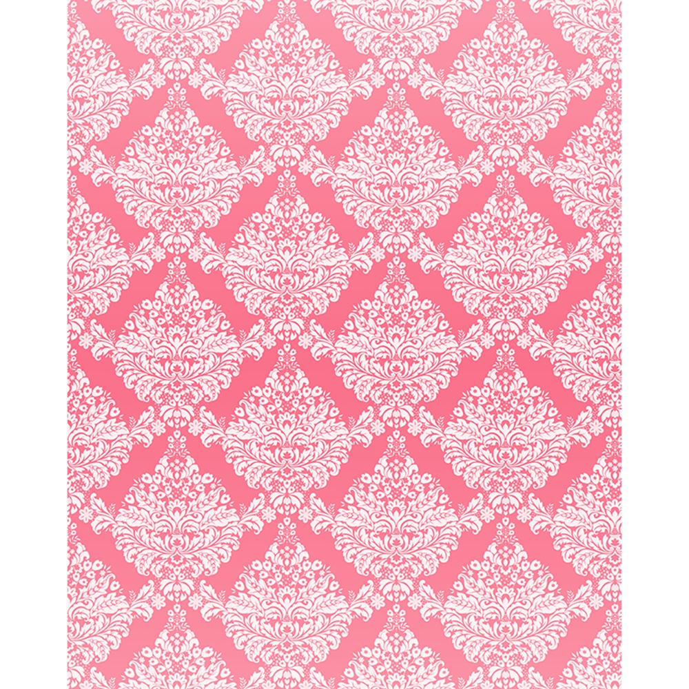 Pink Amp White Damask Printed Backdrop Backdrop Express