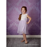 Light Purple Damask Printed Backdrop