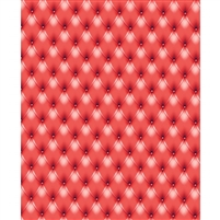 Cherry Red Tufted Printed Backdrop