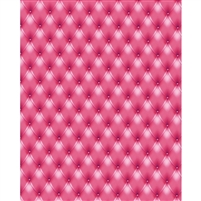Hot Pink Tufted Printed Backdrop