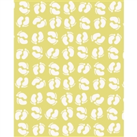 Yellow Footprints Printed Backdrop