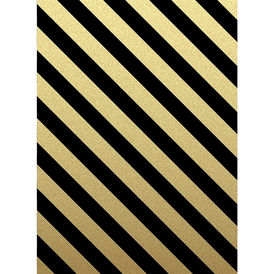 Black And Gold Stripes Printed Backdrop Backdrop Express