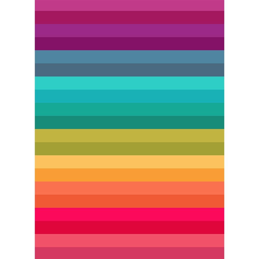 Rainbow Block Stripes Printed Backdrop Backdrop Express