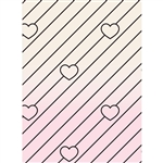 Heart Stripes Printed Backdrop