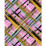 Pink and Gold Glitter Plaid Printed Backdrop