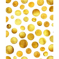 Painted Gold Dots Printed Backdrop