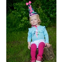 Bright Feathers 1st Birthday Hat