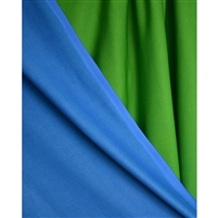 Chroma Blue & Green Reversible Printed Backdrop