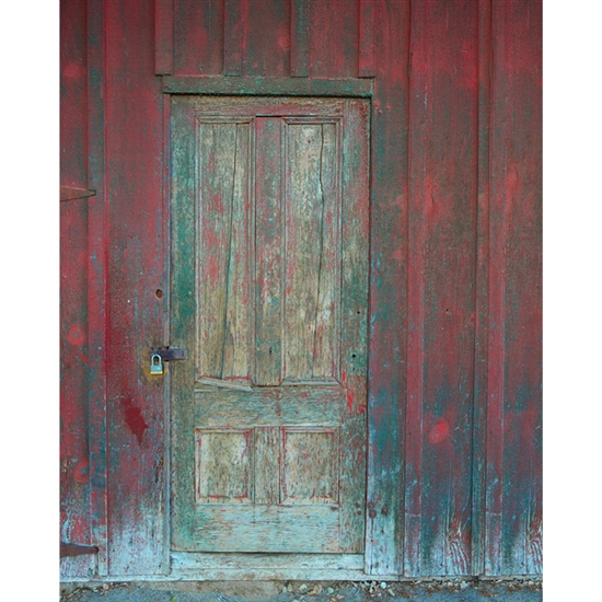 Rustic Barn Door Printed Backdrop Backdrop Express