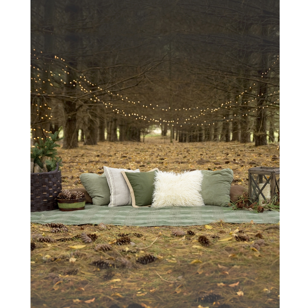 Picnic In The Woods Scenic Printed Backdrop Backdrop Express