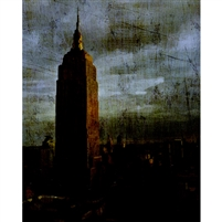 Grunge Empire State Building Printed Backdrop