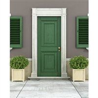 Emerald Door Printed Backdrop