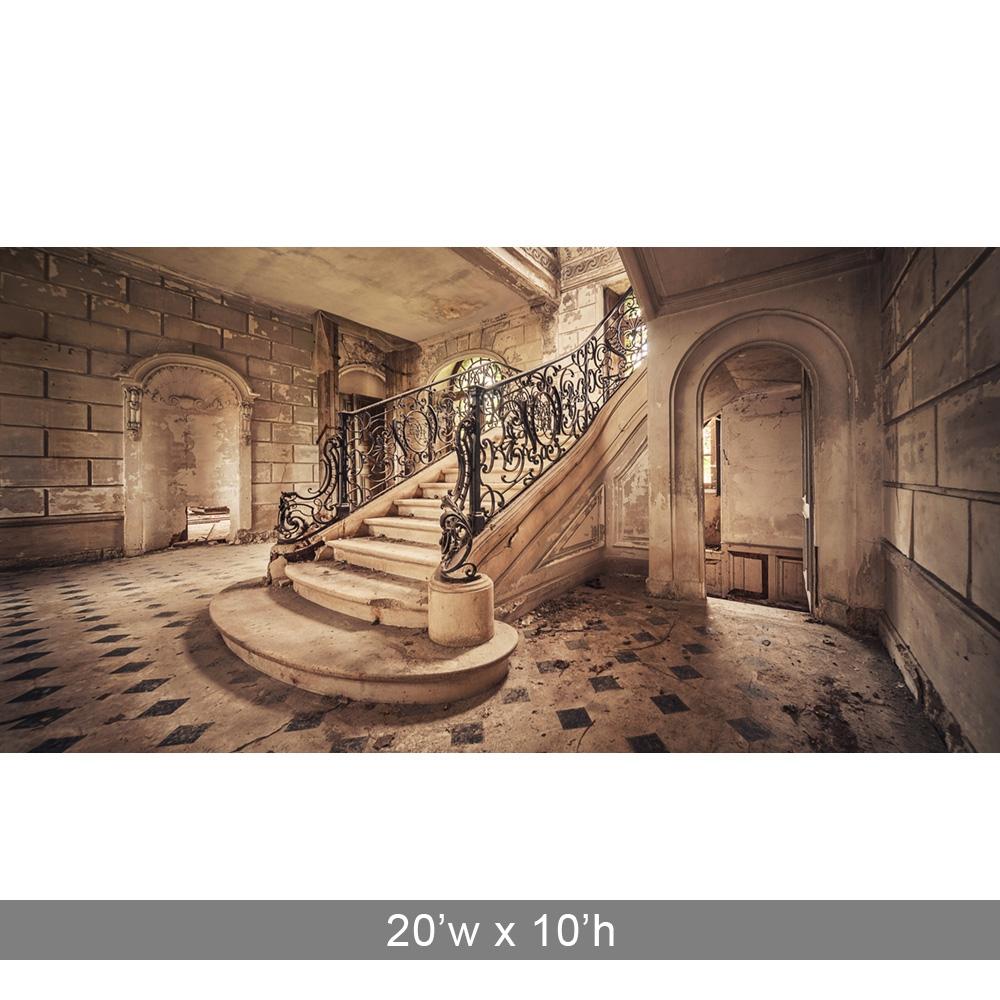 Elegant Stairway Printed Backdrop Backdrop Express