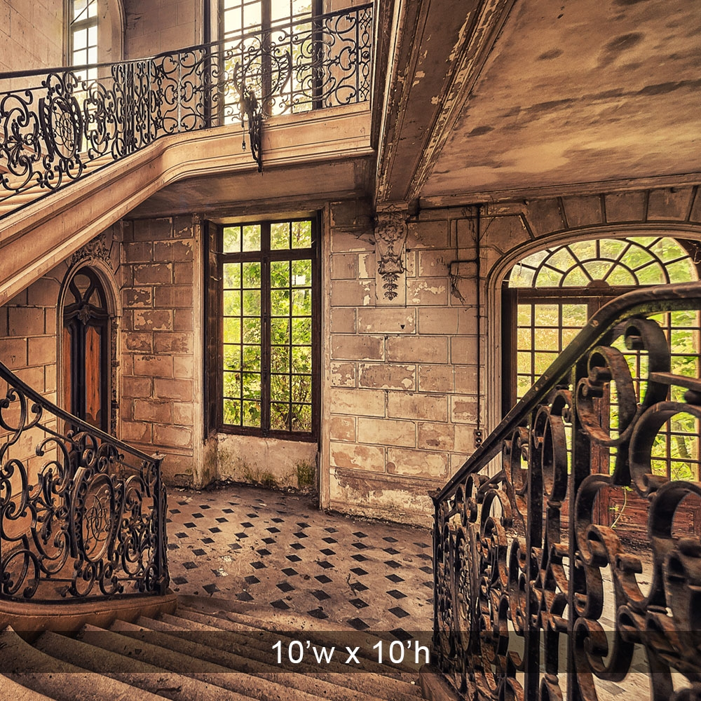 Intricate Stairwell Printed Backdrop Backdrop Express