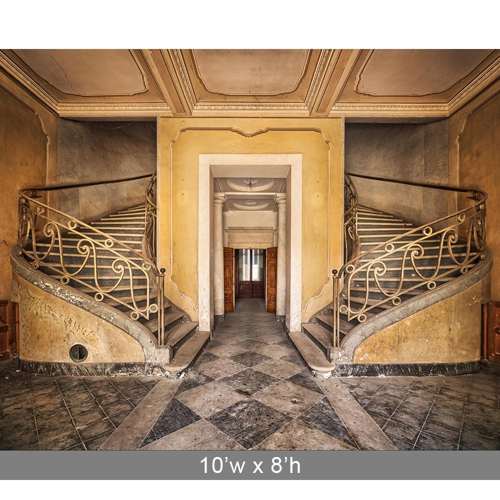 Elegant Staircase Printed Backdrop Backdrop Express