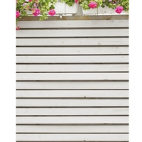 Hydrangea White Planks Printed Backdrop