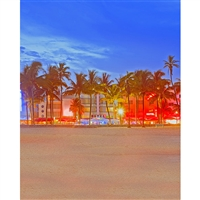 Miami Beach Printed Backdrop