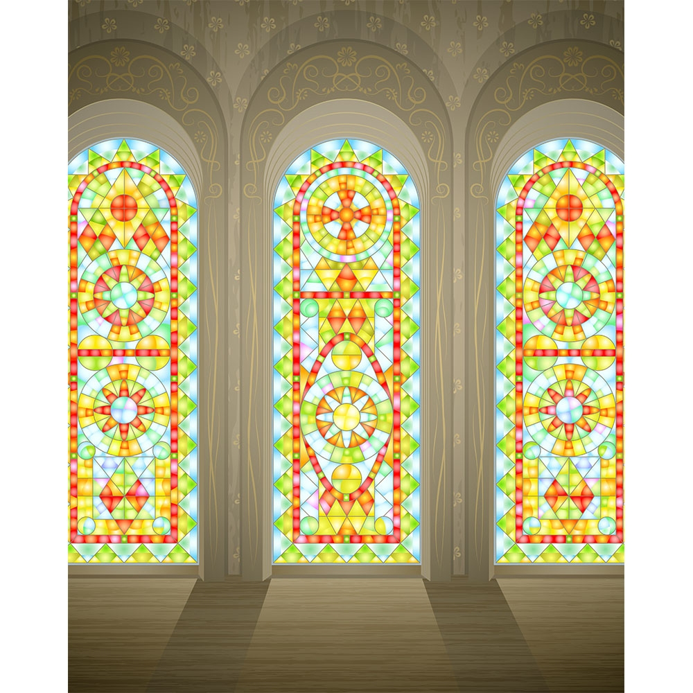 Stain Glass Windows Printed Backdrop Backdrop Express