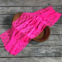 Electric Pink Stretch Lace Wrap