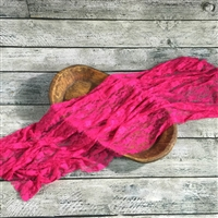 Raspberry Stretch Lace Wrap